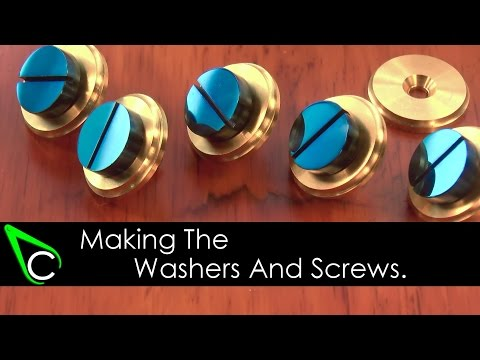 How To Make A Clock In The Home Machine Shop - Part 3 - Making The Washers And Screws