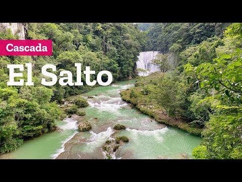 Cascada El Salto en Palenque y reserva ecológica Aluxes Chiapas