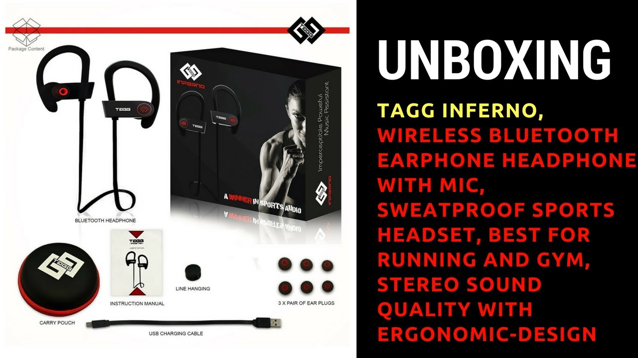 097d052d961 UNBOXING -: TAGG Inferno, Wireless Bluetooth Earphone Headphone with Mic ...