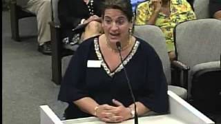 Violet Speaking at the Hollywood Florida City Commission Meeting About the Margaritaville