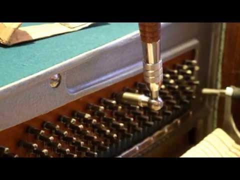 Настройка пианино методом (9-12) вверх. Почему рукоятку ключа нужно ставить слева к 12 часам