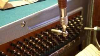 9/12 , Настройка пианино методом (9-12) вверх. Почему рукоятку ключа нужно ставить слева к 12 часам