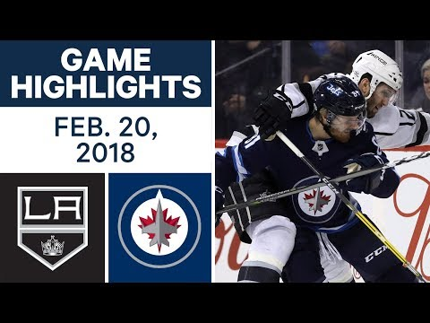 NHL Game Highlights | Kings vs. Jets - Feb. 20, 2018