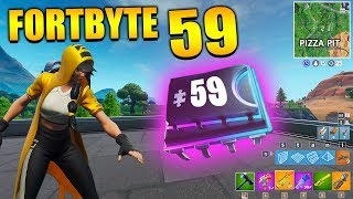 Fortnite Fortbyte 59 🍔 Durrr in Pizza Pit | All Fortbyte Places Season 9 Utopia Skin English