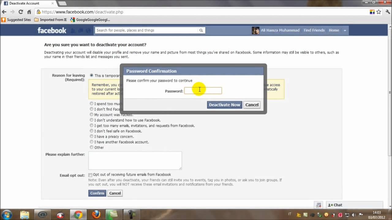 How to deactivate facebook account tutorial in urdu youtube how to deactivate facebook account tutorial in urdu stopboris Images