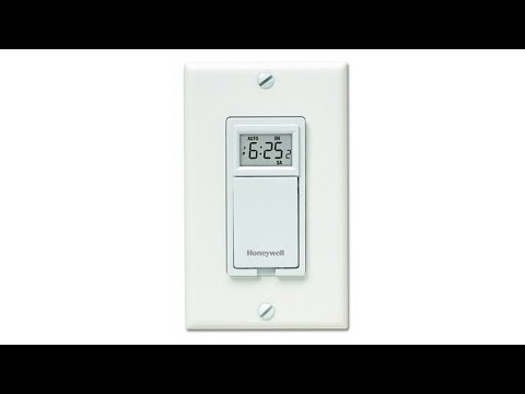 Honeywell 7-Day Programmable Light Switch Timer - White (RPLS530A1038)