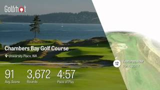 Golfshot 3D Flyover Preview – Chambers Bay Golf Course