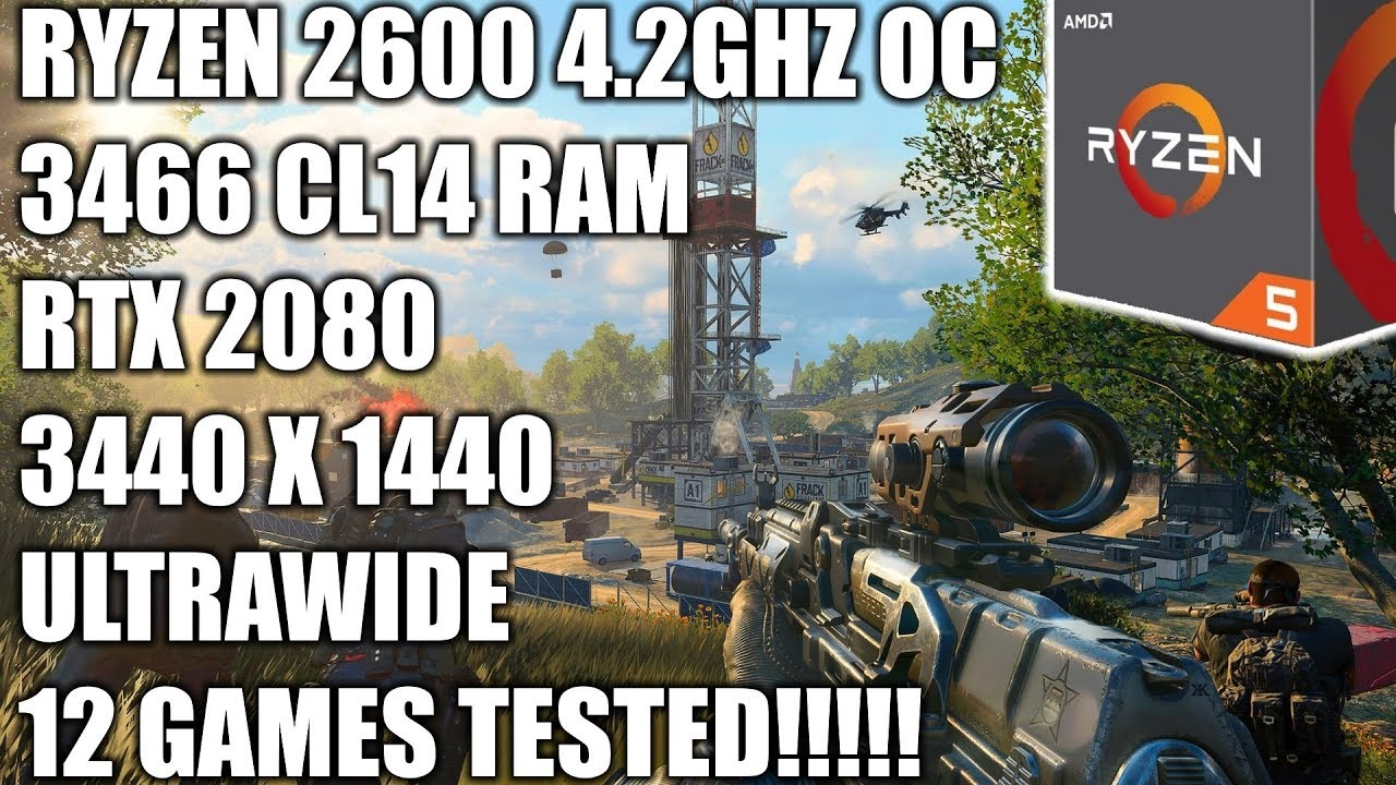 Ryzen 2600 + RTX 2080 - 3440 X 1440 Ultrawide Gaming Benchmarks - 12 Games Tested