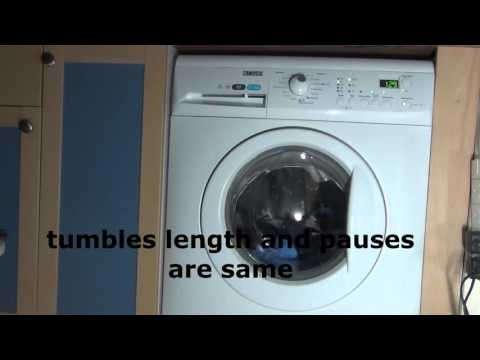 Zanussi Aquafall ZWHB7160 : Cotton quick 60'c + extra rinse : wash phase (1 of 2)