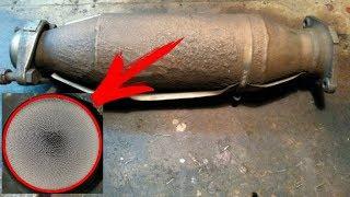 Как проверить катализатор отработавших газов Как выглядит целый катализатор