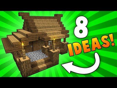 8 Mini Starter House Designs & Ideas! - Minecraft
