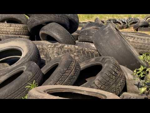 Фундаментальный фундамент Семыкина спустя 2 зимы. Фундамент на покрышках. Foundation on tires.