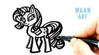 Drawing cartoon | My Little Pony วาดรูปมายลิตเติ้ลโพนี่