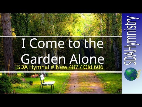 I Come to the Garden Alone with Lyrics Solemn Karaoke style Video for Worship | SDA Hymn Ministry