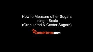 Granulated Sugar Measuring using Scale