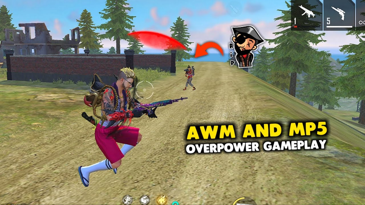 This time AWM and Mp5 OverPower Solo vs Squad Ajjubhai Gameplay - Garena Free Fire