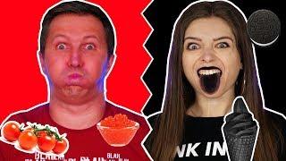 24 часа едим только черную и красную еду! Челлендж 🐞 Эльфинка
