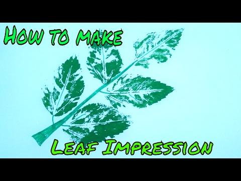 Leaf Impressions Part 1 Design Making