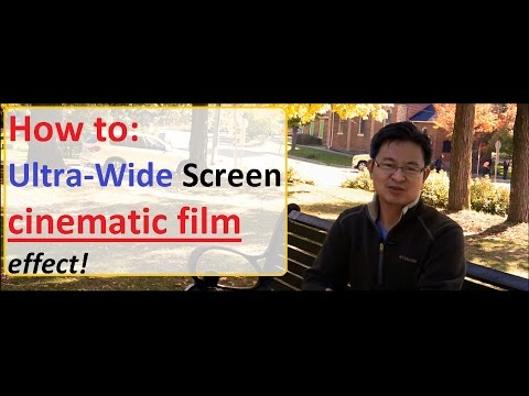 How to make 2.35 widescreen film format effect using dslr mirrorless camera Anamorphic Film Look