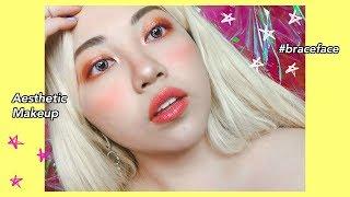 Aesthetic AF Braces Makeup #ISSALOOK ft. Rileyrose Festival Box!