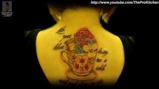 Чашки. 33 лучшие женские татуировки фото. Cups.Tattoo.(Чашки, кружки, чайники - лучшие женские татуировки фото. Татуаж, ну какая может быть связь с кухней???? А вот..., 2013-06-22T06:25:08.000Z)