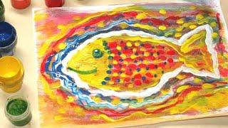Рисование для детей. Рисуем рыбку.