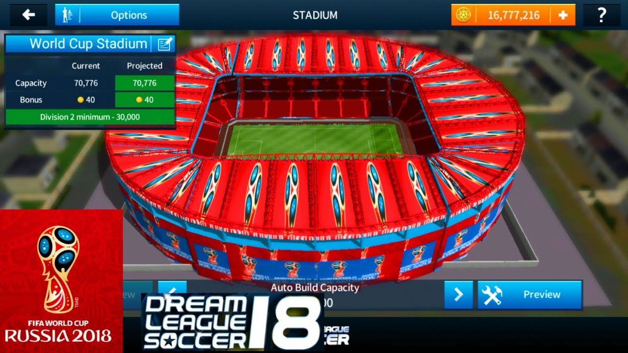 How To Change The Stadium Of Dream League Soccer 2018 Fifa World Cup Russia 2018 Stadium Youtube