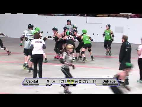 Capital City Derby Dolls Dolly Rogers vs Dupage Derby Dames : Midwest BrewHaHa 6/3/17