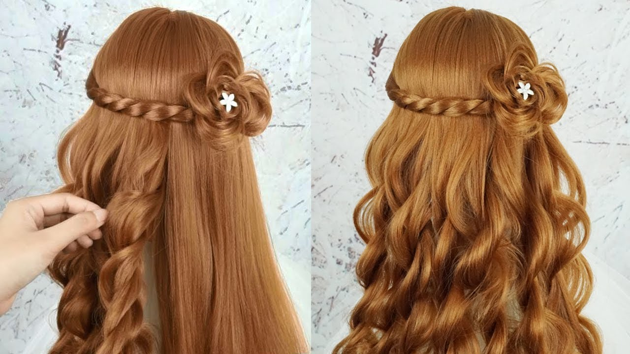 Easy Beautiful Hairstyles For Girls - Hairstyles For Girls For Party |  Simple Cool Hairstyle