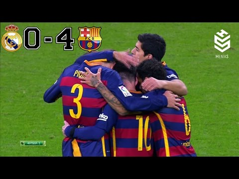 Real Madrid vs Barcelona 0-4  All Goals and Full Highlights  English Commentary  21-11-2015 HD