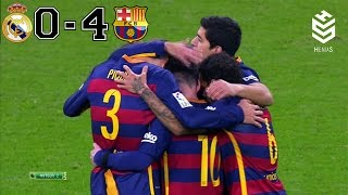 Real Madrid vs Barcelona 0-4 â—� All Goals and Full Highligh...
