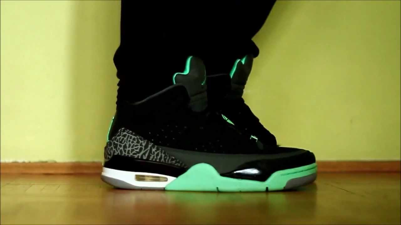 8b4da993952f ... sale air jordan son of mars low green glow on feet youtube 018a9 005fc