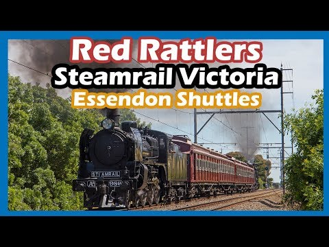 Red Rattlers In The Metro - Steamrail Victoria's Essendon Shuttles