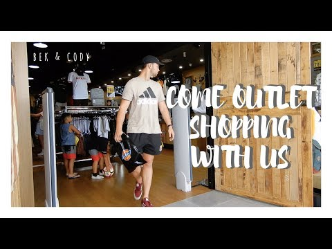 COME OUTLET SHOPPING WITH US - Vlog // Bek & Cody