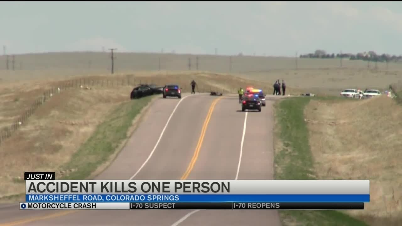 Fatal crash involving motorcycle closes Marksheffel east of Colorado