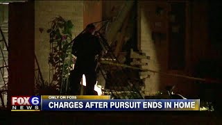 Formal charges filed against man accused of fleeing police, crashing into West Allis living room