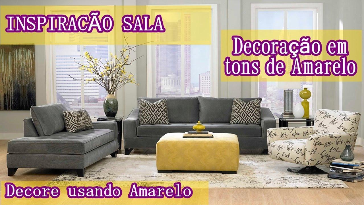 Decorao De Sala Azul E Amarelo O Azul Na Decorao O Que Comrei  -> Decoracao De Sala Pequena Vermelha E Amarela