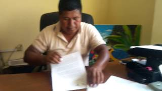 Cofan indigenous leader signs the Nature Nations independence of Independence