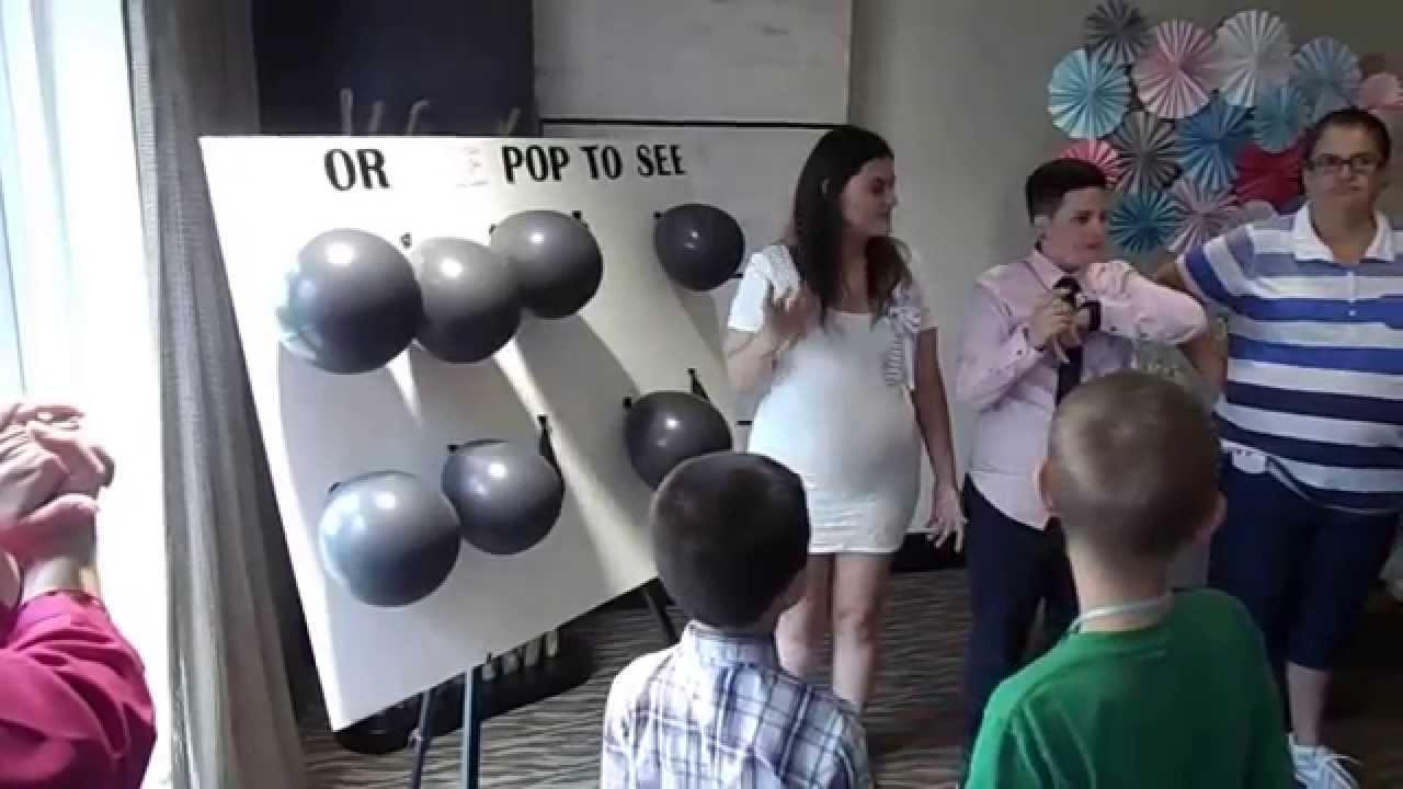 GENDER REVEAL BABY SHOWER   YouTube