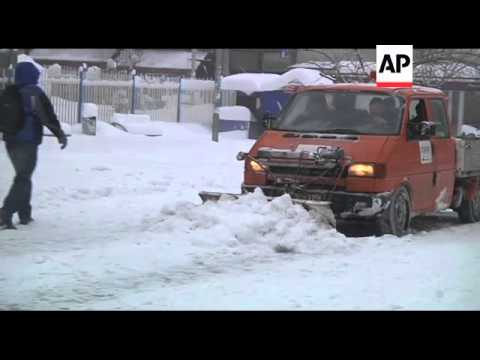 Romania and Kosovo hit hard by snow blizzards