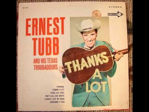 Ernest Tubb   That's the Chance I'll Have to Take