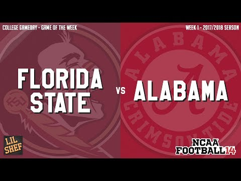Game Of The Week: #3 Florida State Vs #1 Alabama | NCAA Football 14 Gameplay