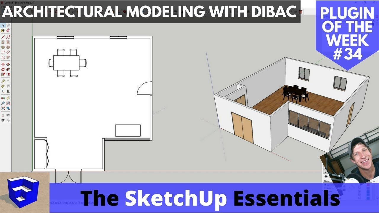 Architectural Modeling with Dibac - SketchUp Plugin of the Week #34