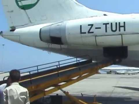 THE SIGHT & THE SOUND 10/10 : Hemus Air TU-134A LZ-TUH inflight documentary from Larnaca to Sofia