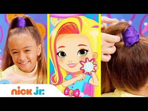 How to Make a Pop Star Ponytail 🎤 Style Files Hair Tutorial   Sunny Day   Nick Jr.