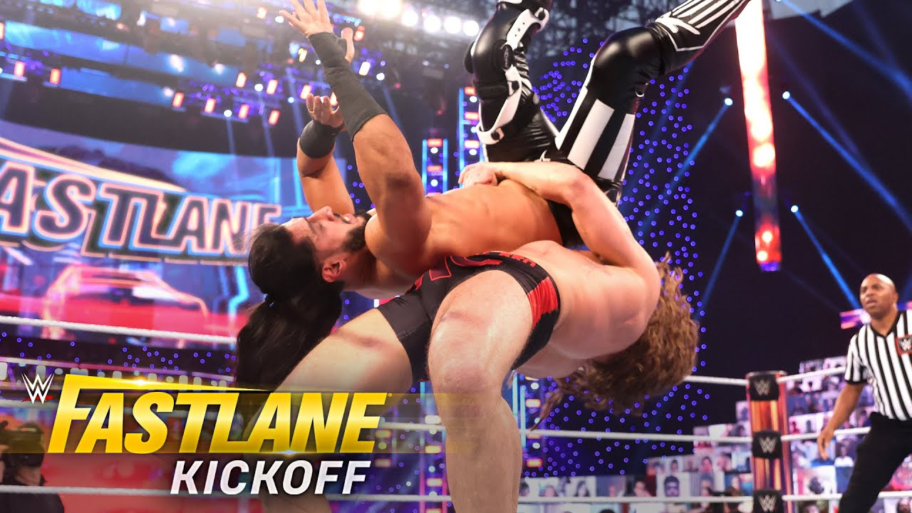 Riddle brings the fight to Mustafa Ali: WWE Fastlane Kickoff Show 2021 (WWE Network Exclusive)