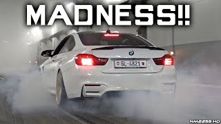 Tuned Cars & Supercars Going CRAZY in a Tunnel!! - MAD Burnouts, Launches & Accelerations!!