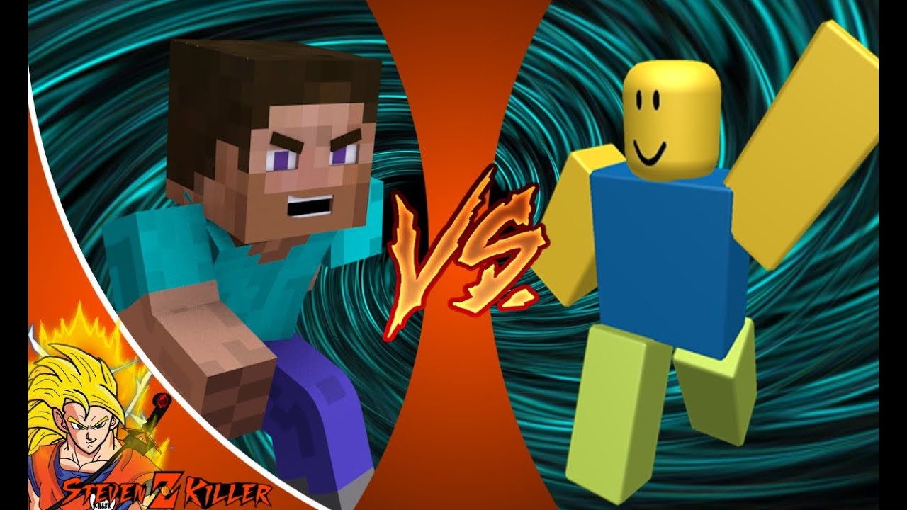 MINECRAFT STEVE Vs ROBLOX NOOB Cartoon Fight Club Episode