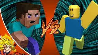 MINECRAFT STEVE vs ROBLOX NOOB! Cartoon Fight Club Episode 81 REACTION!!!