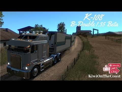 [ATS] [1.35 DX11 Beta] RTA Mods K-108 With The New B-Double Owned Trailer